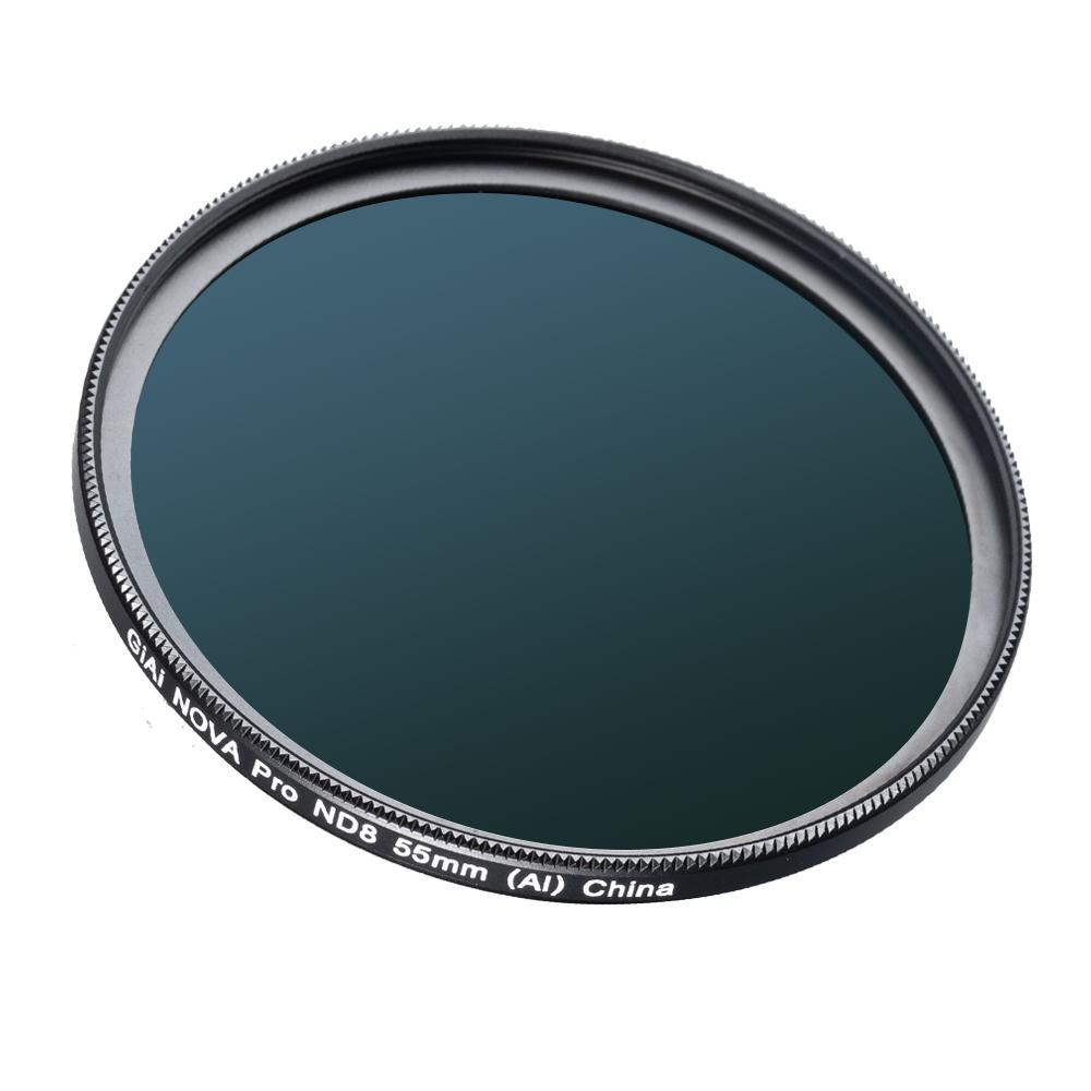 GiAi 49mm ND8 filter camera ND filter 3 stops Neutral density filter