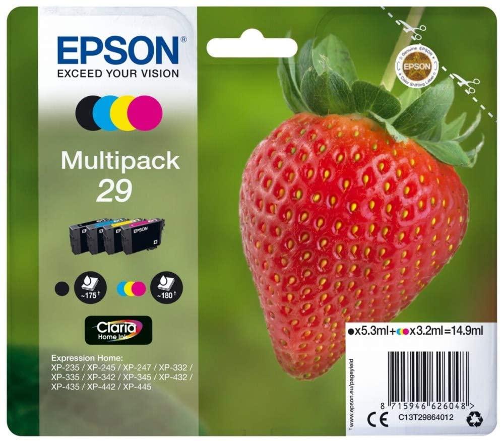 Best deal Epson Strawberry 29 Ink Cartridges Multipack ($20)