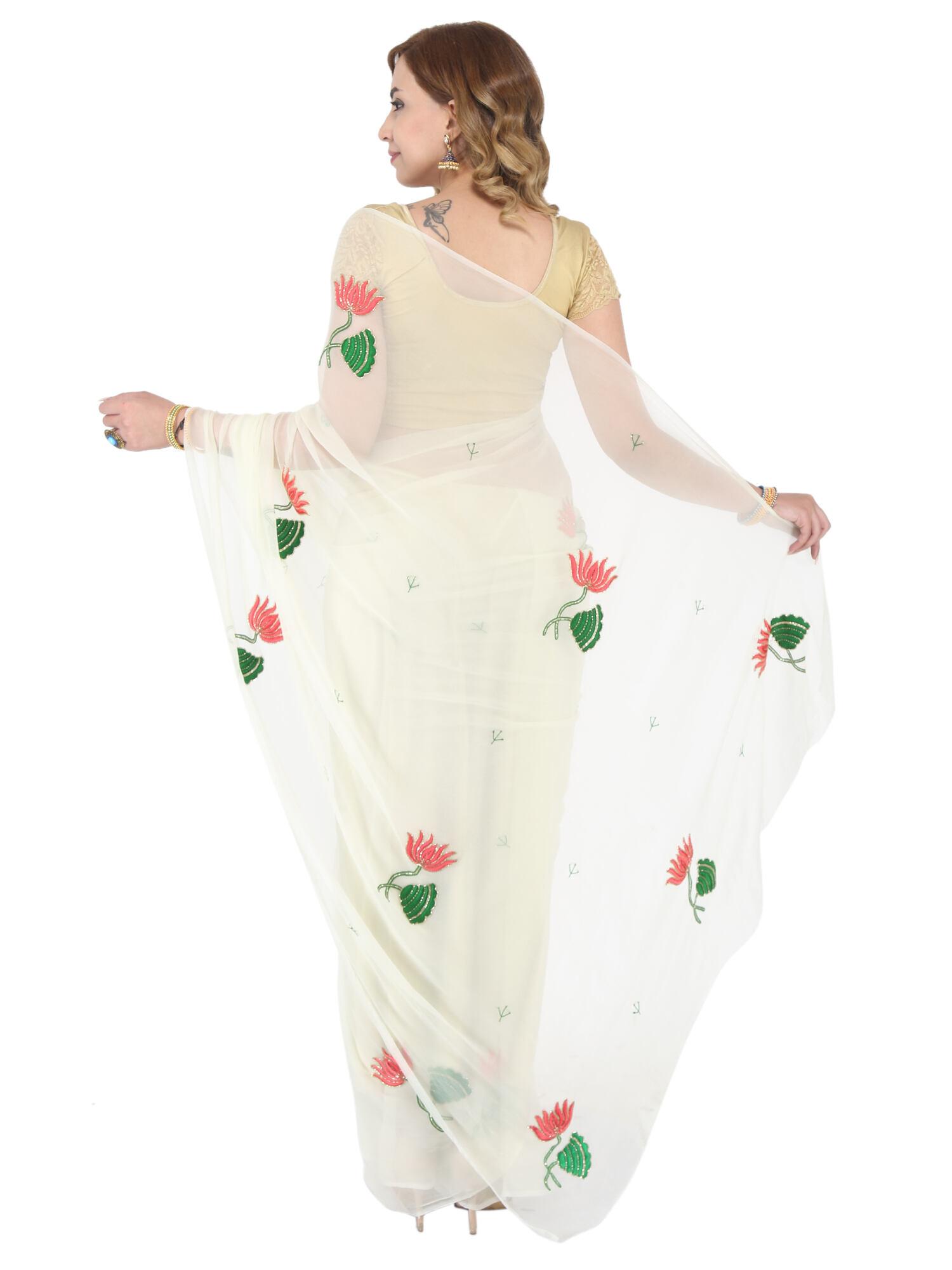 Jaipuri Chiffon Saree